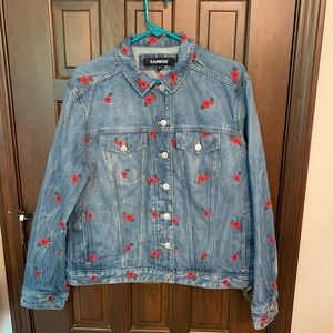 Express Embroidered Denim Jacket